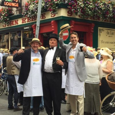 The Irish Youth Foundation hosts a cycle rally during Bloomsday every year. The Stags Head is one of the pit stops for the cycle!